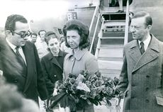 Princess Desiree Silfverschiold being welcomed by the people during an event.