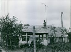 View of a ruin house.