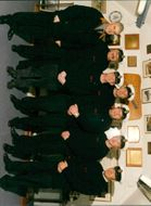 View of crew of ship.