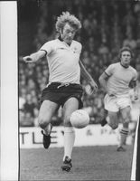 English football player Rodney William Marsh during a football match.
