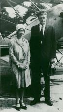 Portrait of Captain Charles Lindbergh during his marriage