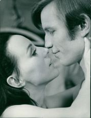 Actors Michael York and Heidelinde Weis, in a scene from the movie 'Something for Everyone', 1970