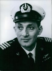 Portrait of Israeli Service Chief, Acting Commodore Shlomo Erell, 1966.