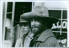 "Scott Glenn and Kevin Kline starring in ""Silverado"" (film)."