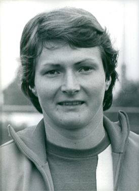Photo of East German Athlete, Sabine Engel.