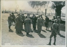 Serbian Plenipotentiary Officials appear at the Italian lines of the southern front; 'Exterritory of Yugoslavia. Serpent officers appear to be on the Italian lines in the south-eastern Yugoslav territory.
