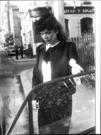 Bianca Jagger outside court after divorcing from Mick Jagger
