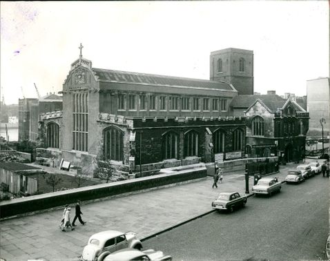 All Hallows Church by the tower:A general view.