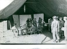 Vietnamese troop during their meeting for the action plan.