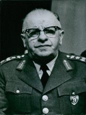 Vintage photograph of Gen. Cevdet Sunay.