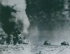 1944 Eighth Army have made fifteen mile advance and engaged in a major armoured battle.
