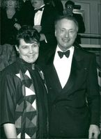 Paul Eddington and his wife.