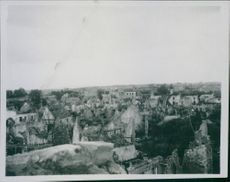 A destroyed village during the WWI.