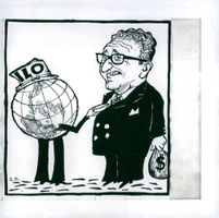 Cartoon cartoon depicting Henry Kissinger