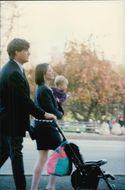 Ted Kennedy Junior together with wife and daughter in Central Park