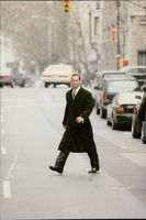 """Actor Keanu Reeves during the filming of the movie """"Devil's Lawyer"""""""