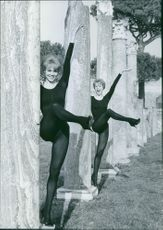 1961  A photo of popular twins in Europe, especially Germany and Italy, from the 1950s and 1960s and until today for their singing, dancing, and acting Alice and Ellen Kessler.