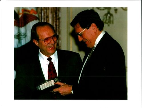 Richard Charles Albert Holbrooke with william perry.