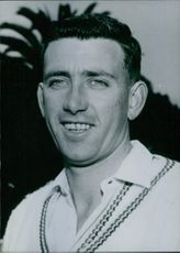 Portrait of Australian Cricketer Colin Guest, 1962.