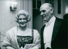 British personalities Sir Harry and Lady Pilkington are smiling