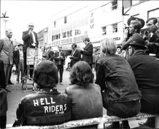Lord George Brown during election campaign at Watford