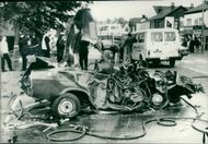 road accidents:the mangled wreckage.