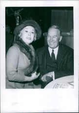 Maurice Chevalier with Eva Gabor 1963