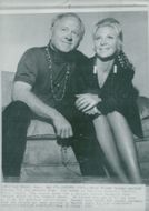 Mickey Rooney with his 7th wife Caroline Hockett at Fremont Hotel before Rooney's show