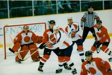 A Hockey match between France and Japan during Jeux Olympics Nagana 98.
