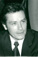 "Actor Alain Delon at Peugeot's presentation of the new cabriolet ""Samba"" at Pavillon D'Armenonville"