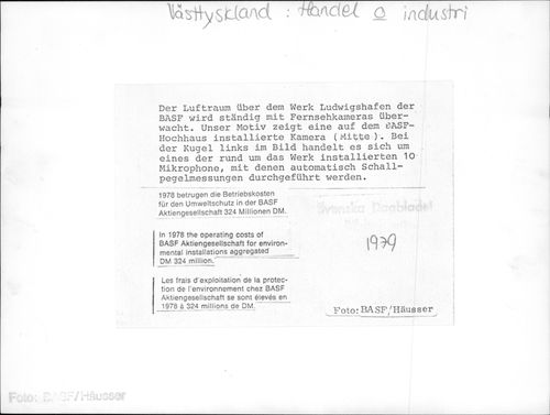 The cost of BASF Aktiengesellschaft for environmental installations was 324 million D-mark in 1978