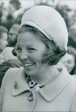 Princess Beatrix of the Netherlands laughing.