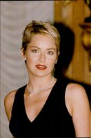 """Sharon Stone is in Paris to promote her new movie """"Sphere - The Boat"""" and is seen here posing for the photographers at the Ritz Hotel"""