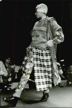 A creation of Kenzo on the catwalk during a fashion show