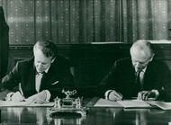 "Mr Ian Smith and Sir Alec Douglas-Home writes under the ""Rhodesian Agreement"""