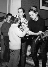 Geraldine Chaplin with children.