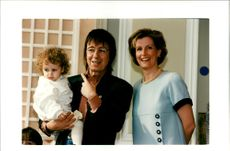 Bill Wyman with daughter katherine and Sophie Rhys Jones.