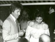 Bianca Jagger and Roddy Llewellyn at the party