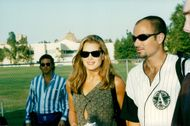 """Brooke Shields and Andre Agassi arrive at Infini Men's tennis tournament """"An evening at the net"""""""