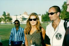 "Brooke Shields and Andre Agassi arrive at Infini Men's tennis tournament ""An evening at the net"""