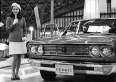 Nissan car during the 1968 Tokyo Motor Show.