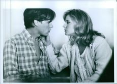 """William McNamara and Jodie Foster in a scene from a 1988 American romantic drama movie, """"Stealing Home""""."""