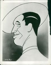 Illustration of Maurice Chevalier.