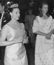 Antony Charles Robert Armstrong-Jones with his wife Princess Margaret and Princess Anne.
