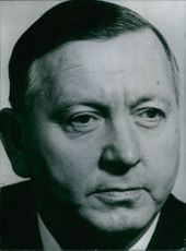 West German politician, Alois Niederalt, 1966.