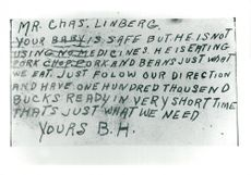 The kidnapper Bruno Hauptmann's letter to Charles Lindbergh