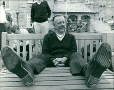 Bob Maury smiling because he got a new pair of shoes.  Taken - Circa 1965