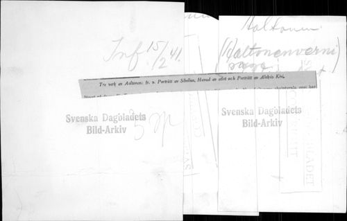 Three works by Finnish professor and artist Wäinö Aaltonen. - 15 February 1941