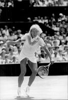 Martina Navratilova wins the Wimbledon Championship for the sixth time after defeating Chris Evert