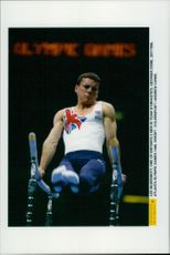 British gymnast Lee McDermott during the 1996 Olympic Games